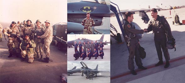 Collage of kevin during his airforce days.